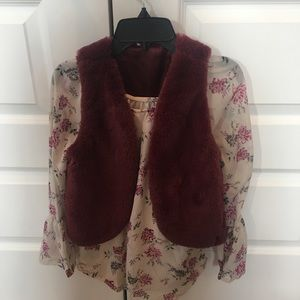 Girls shirt and vest set